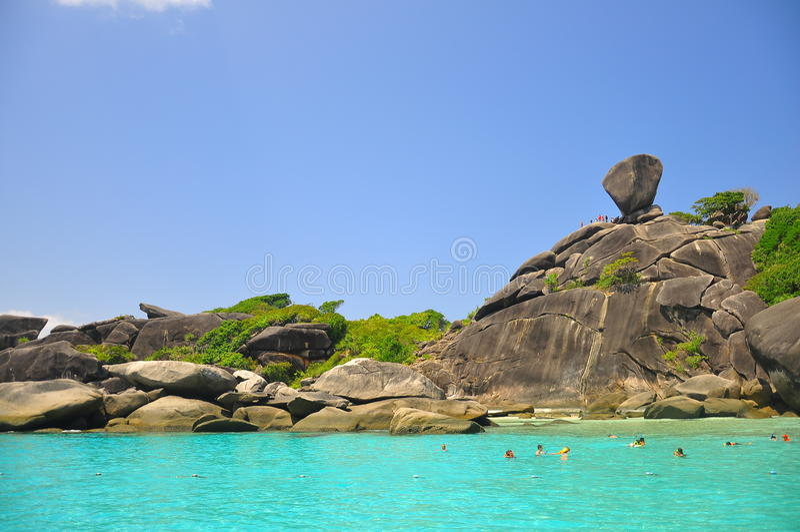 Förbluffa den Similan ön, Thailand arkivbild
