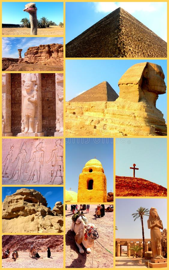 Förbluffa Egypten. Collage. royaltyfria bilder