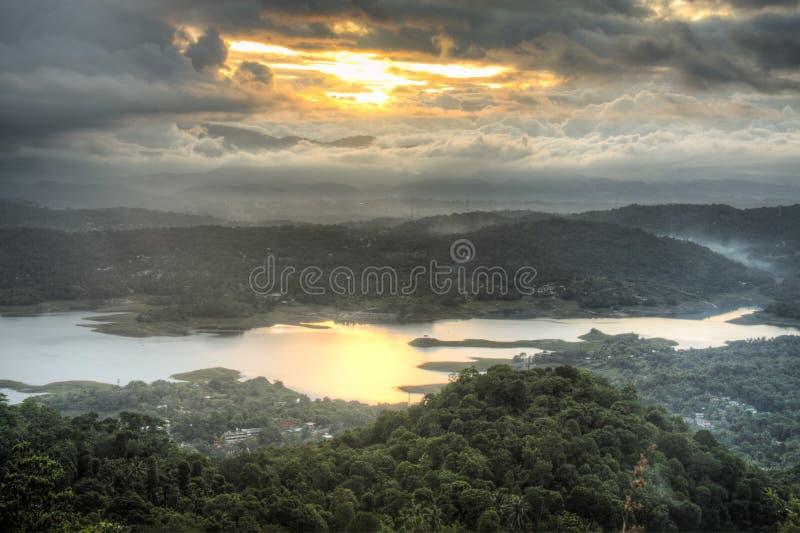 Förbluffa landskap i Kandy, Sri Lanka royaltyfria bilder