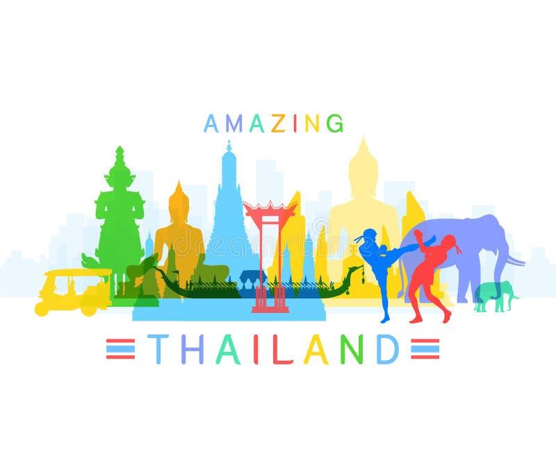 förbluffa thailand royaltyfri illustrationer