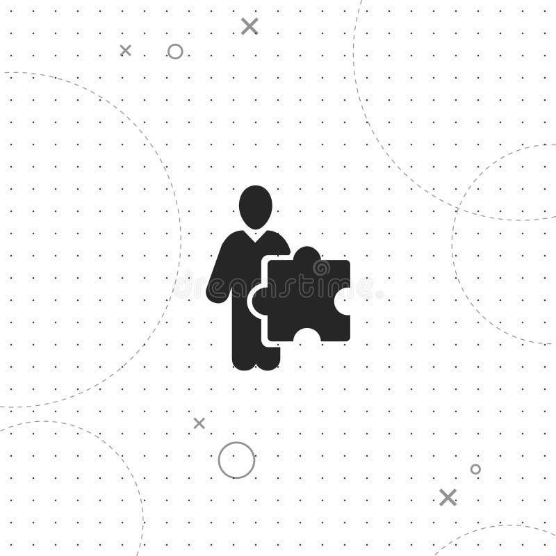 Förbrylla folk, laget, bästa plan symbol för vektor royaltyfri illustrationer