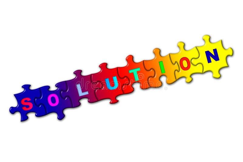 förbryllar lösningsord vektor illustrationer