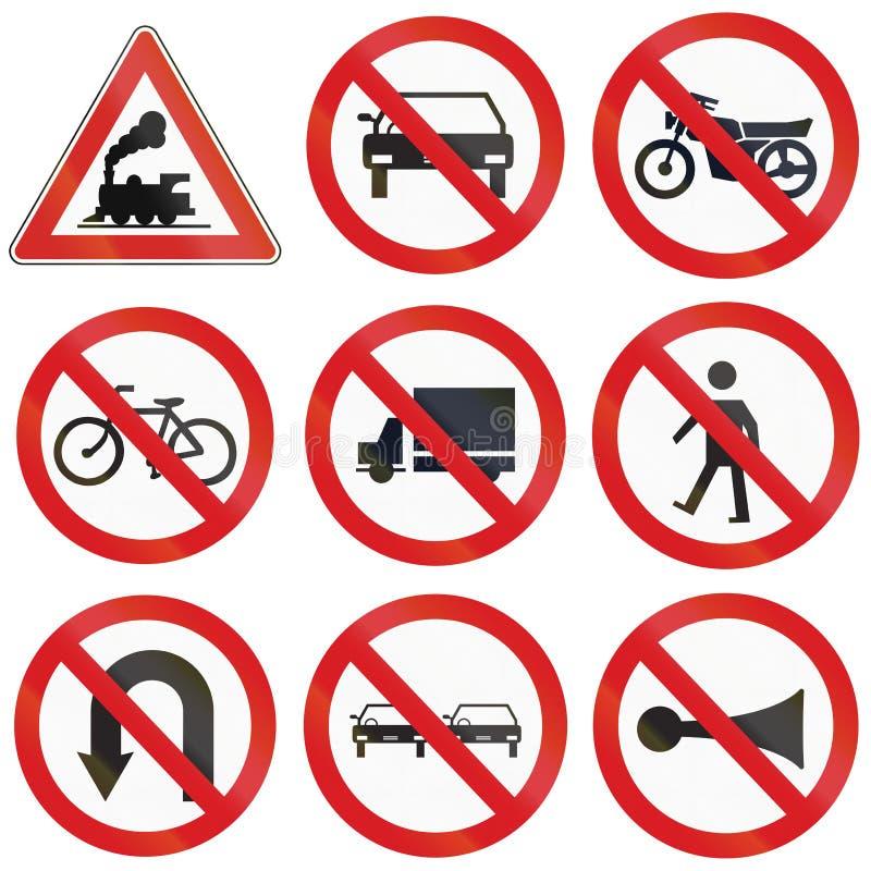 Förbud undertecknar in Argentina stock illustrationer