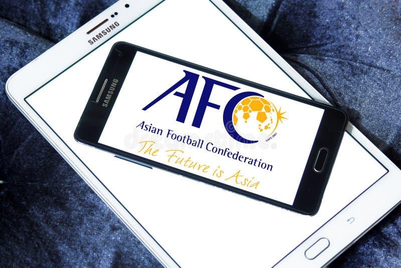 Förbund för asiatisk fotboll, afc-logo fotografering för bildbyråer