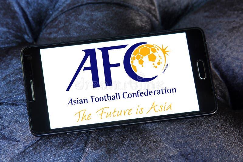 Förbund för asiatisk fotboll, afc-logo royaltyfri bild