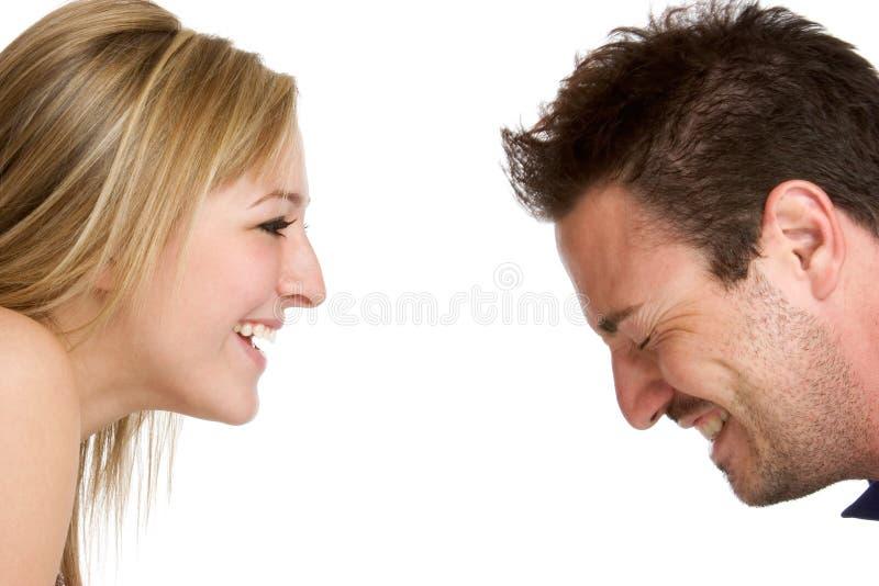 förbunden att skratta royaltyfria bilder