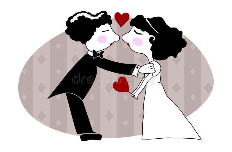 förbunden bröllop stock illustrationer