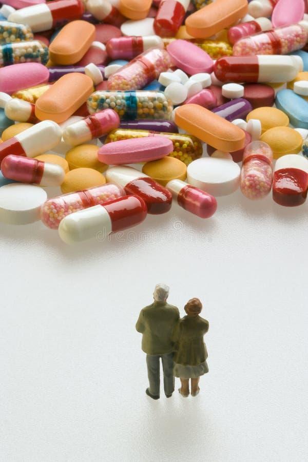 förbunden höga pills royaltyfri foto