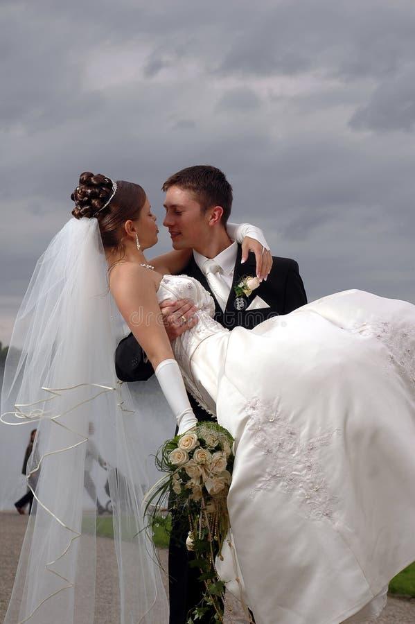 förbunden ventilatoren som har varmt bröllop arkivfoton