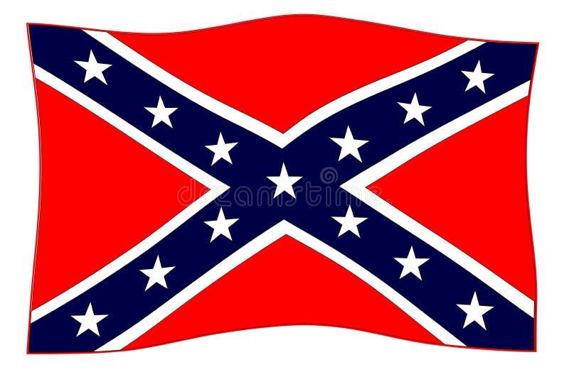 Förbundsmedlem flaggan som vinkar i vinden royaltyfri illustrationer