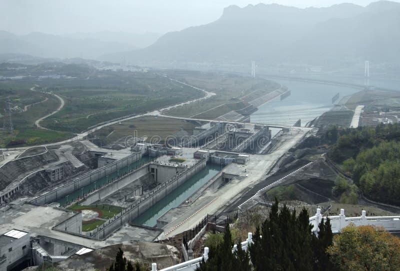 fördämningklyftaflod tre yangtze arkivfoto