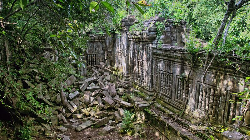 Fördärva Angkor Wat Cambodia royaltyfria foton