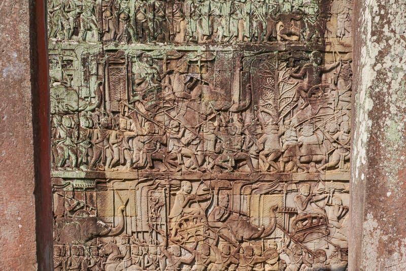 Fördärva Angkor Wat, Siem Reap, Cambodja arkivfoton