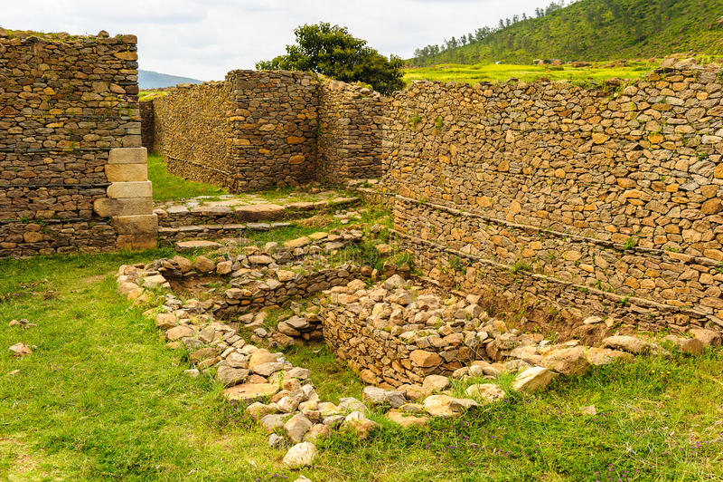 Fördärvar av Aksum (Axum), Etiopien arkivfoton