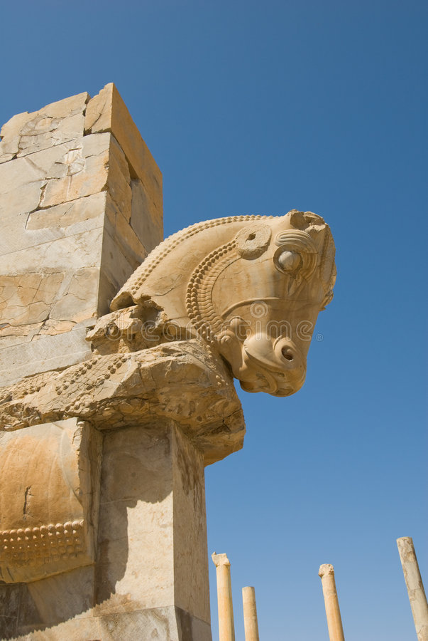 Fördärvar av av Persepolis royaltyfri foto