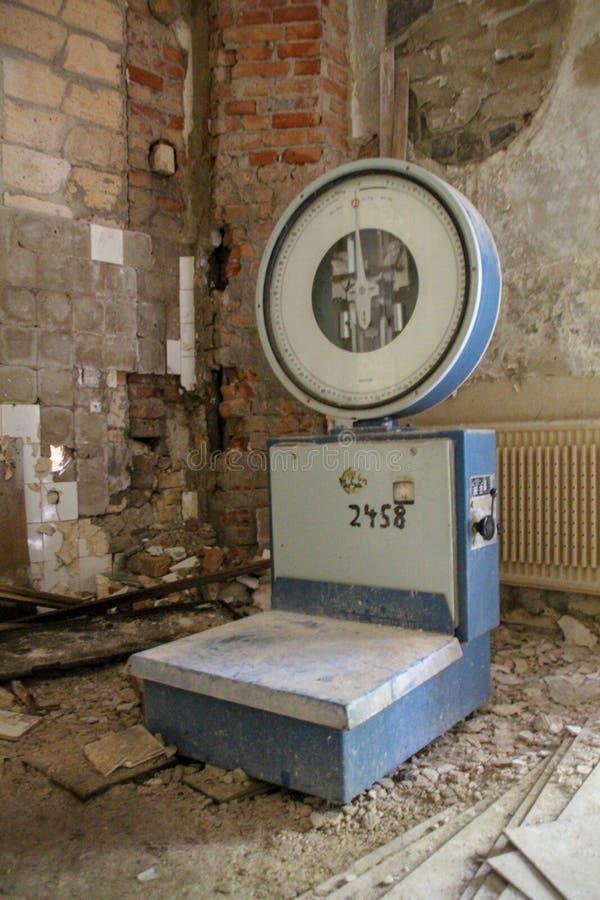 Fördärvar av Beelitz-Heilstätten förlorade stället Berlin Brandenburg royaltyfri bild