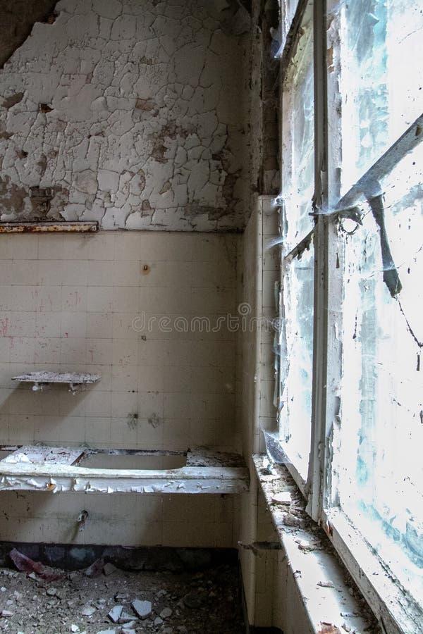 Fördärvar av Beelitz-Heilstätten förlorade stället Berlin Brandenburg arkivfoto