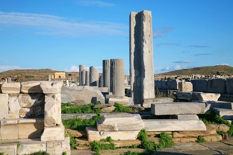 Fördärvar av Delos fotografering för bildbyråer