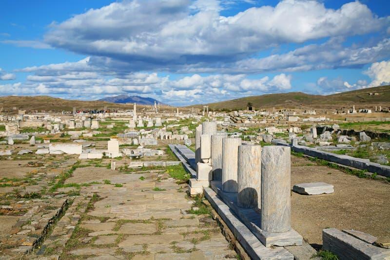 Fördärvar av Delos arkivfoton