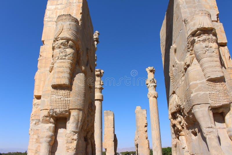 Fördärvar av den ceremoniella huvudstaden av Achaemenidvälden arkivbild