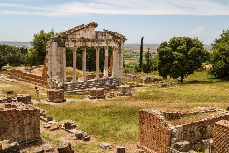 Fördärvar av den forntida Apollonia staden arkivbilder