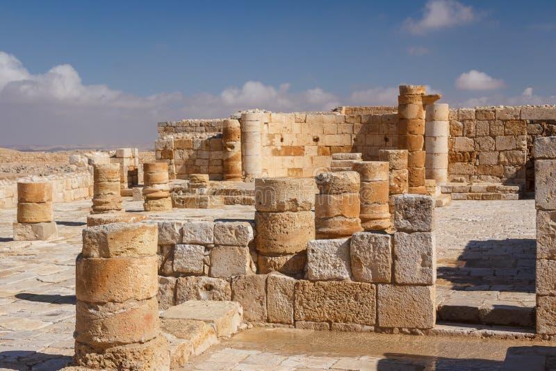 Fördärvar av den forntida Avdat bosättningen, Negev royaltyfri fotografi