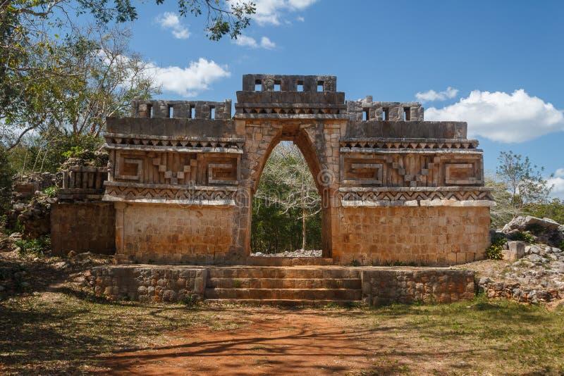Fördärvar av den forntida Mayan staden av Labna royaltyfri foto