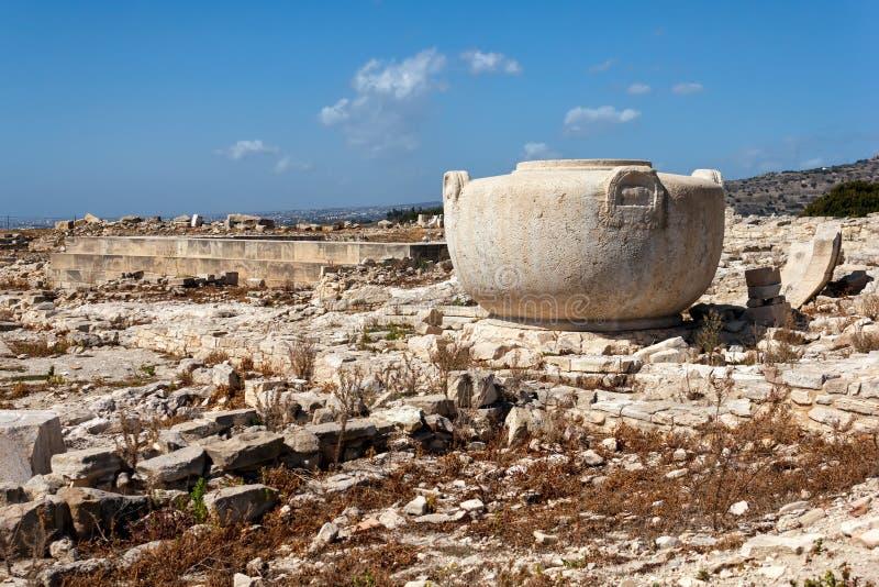 Fördärvar av den forntida staden av Amathus, nära Limassol, Cypern arkivfoton