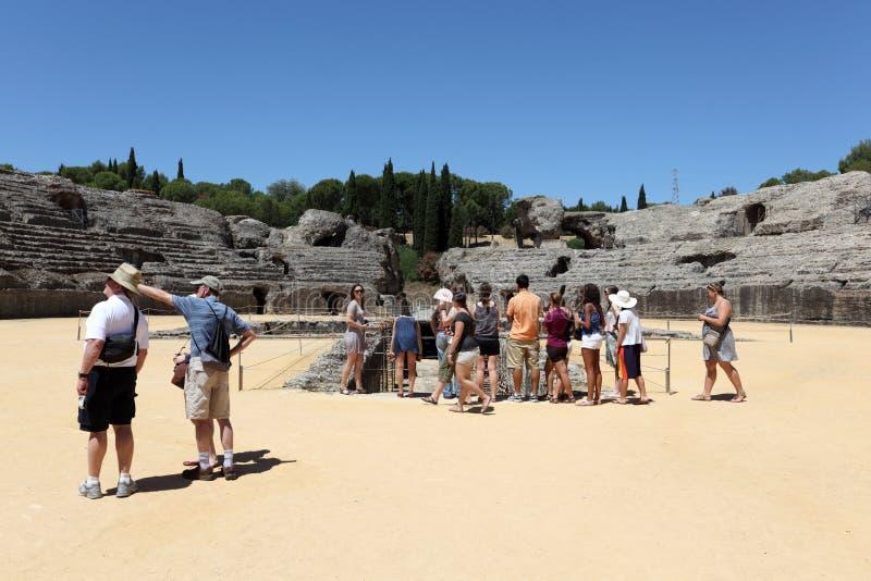 Fördärvar av den romerska staden Italica. Spanien royaltyfria bilder