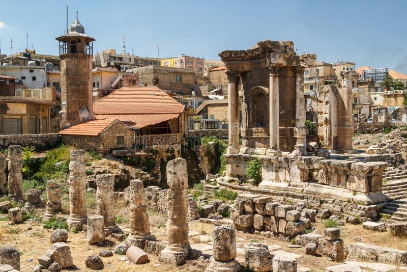 Fördärvar av den sakrala platsen för den forntida romaren royaltyfria foton