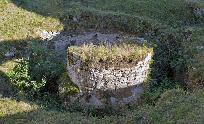 Fördärvar av den Spis slotten i Slovakien fotografering för bildbyråer