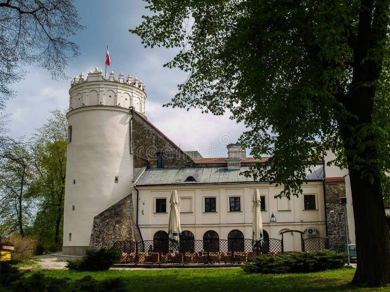 Fördärvar av det medival gammala slottet i Polen, Przemysl, Polen royaltyfri bild