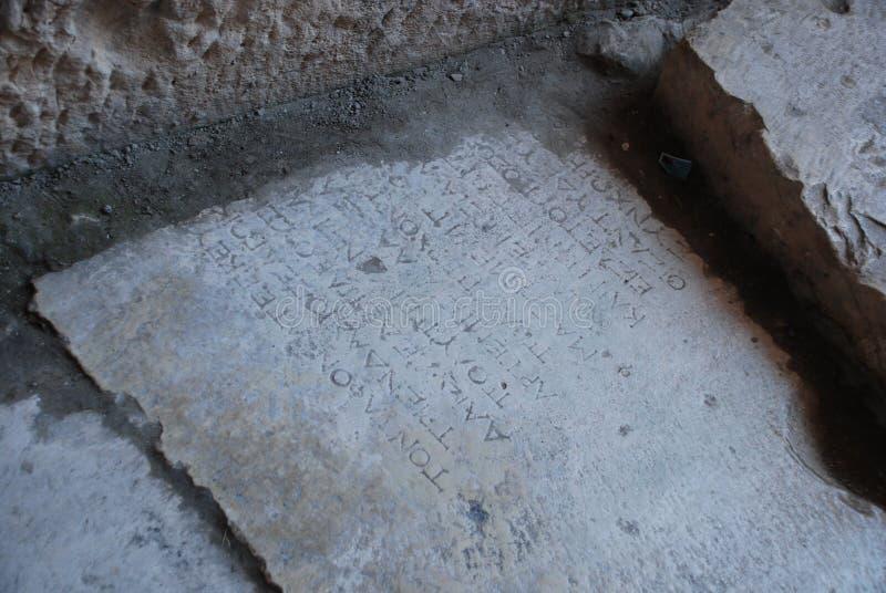 Fördärvar av en forntida stad i Turkiet nära Antalya arkivbilder