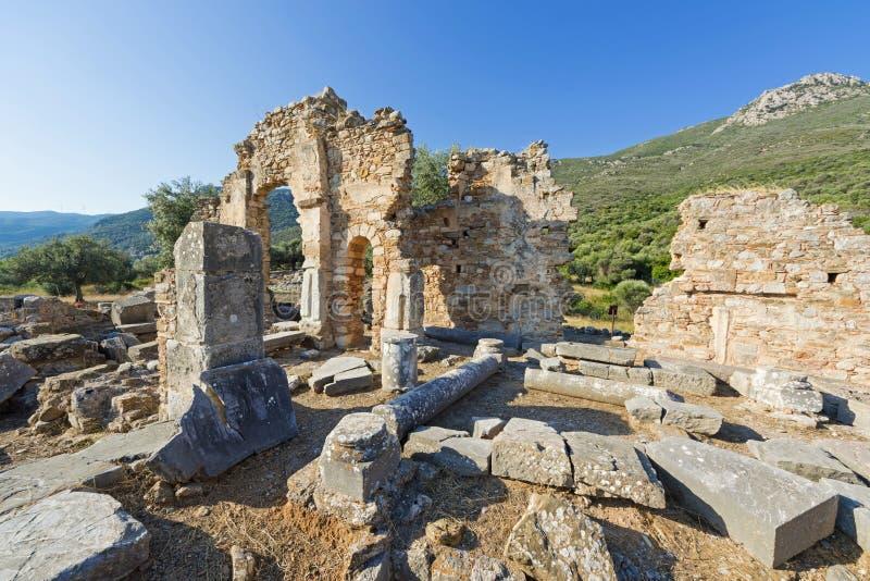 Fördärvar av en tidiga Christian Temple royaltyfri bild
