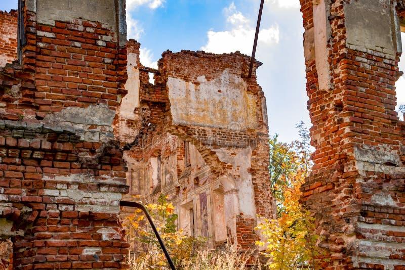 Fördärvar av ett förstört säteri av det 18th århundradet, utanför arkivbilder