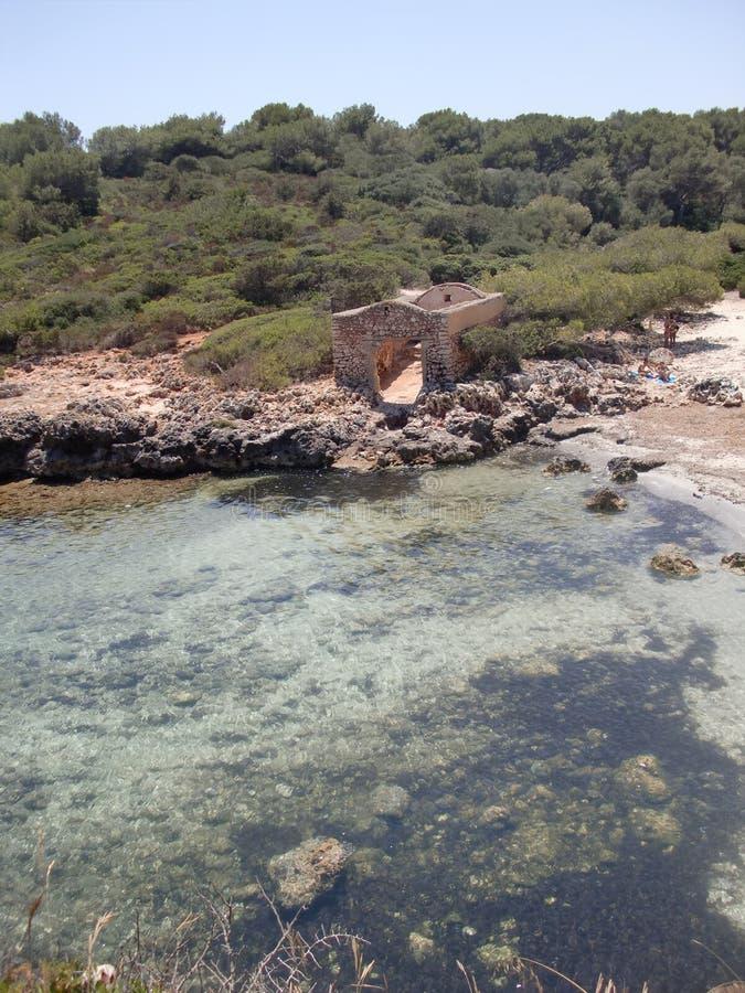 Fördärvar av ett hus Mallorca för fiskare` s arkivfoton