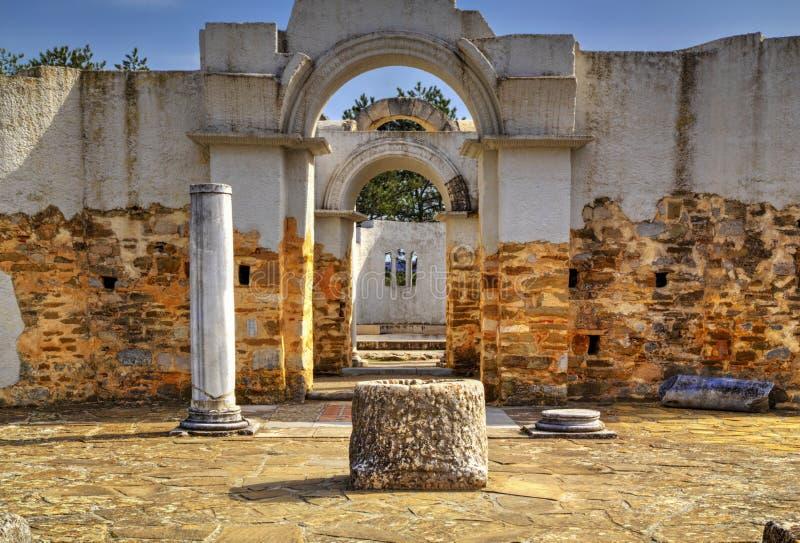 Fördärvar av forntida kyrka fotografering för bildbyråer