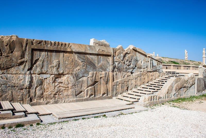 Fördärvar av forntida Persepolis royaltyfria bilder