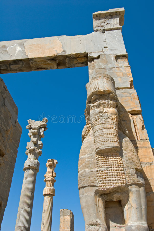 Fördärvar av forntida stad royaltyfri bild