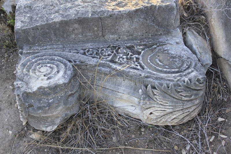 Fördärvar av forntida stad av bibliska Kedesh i Israel royaltyfria bilder