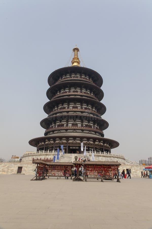 Fördärvar av himmel i den sakrala huvudstaden av den zhou dynastin i luoyang, Kina royaltyfria bilder