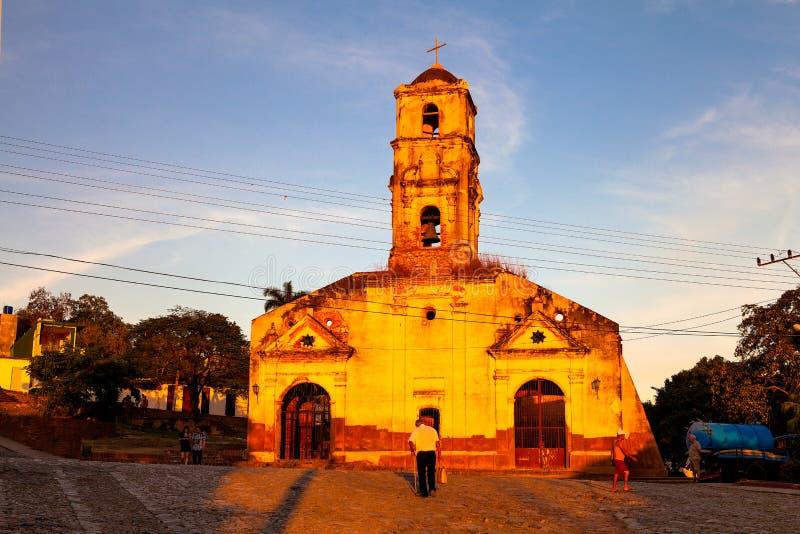 Fördärvar av katolska kyrkan av Santa Ana i Trinidad, Kuba arkivbilder