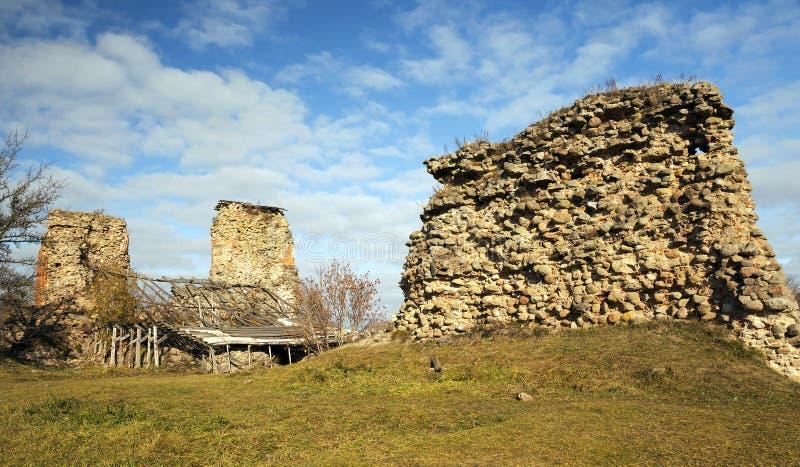 Fördärvar av Krevo, Vitryssland royaltyfri foto