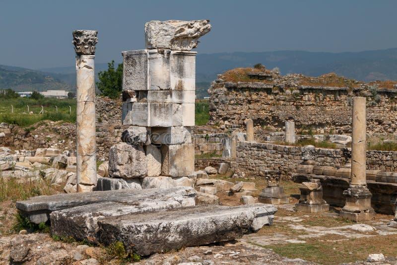 Fördärvar av magnesiamagnesian för den forntida staden på Maeanderen fotografering för bildbyråer