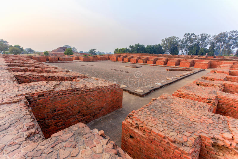 Fördärvar av Nalanda Mahavihara royaltyfria foton