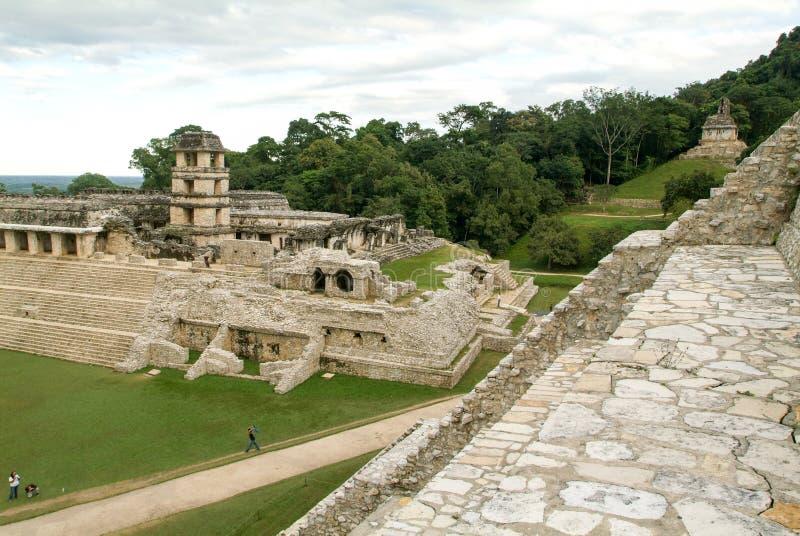 Fördärvar av Palenque, Mayastad i Chiapas, Mexico fotografering för bildbyråer