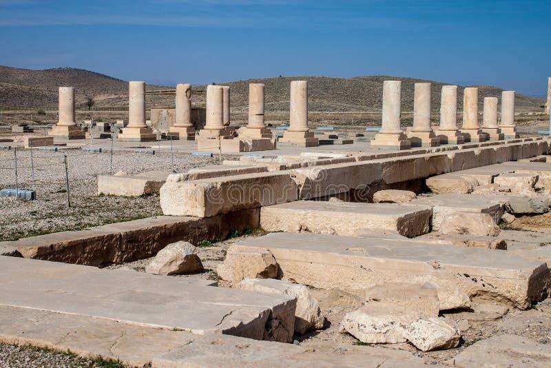 Fördärvar av Pasargadae arkivbild