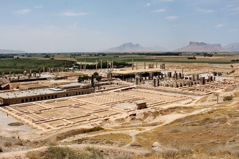 Fördärvar av Persepolis - forntida huvudstad av den persiska välden arkivfoton