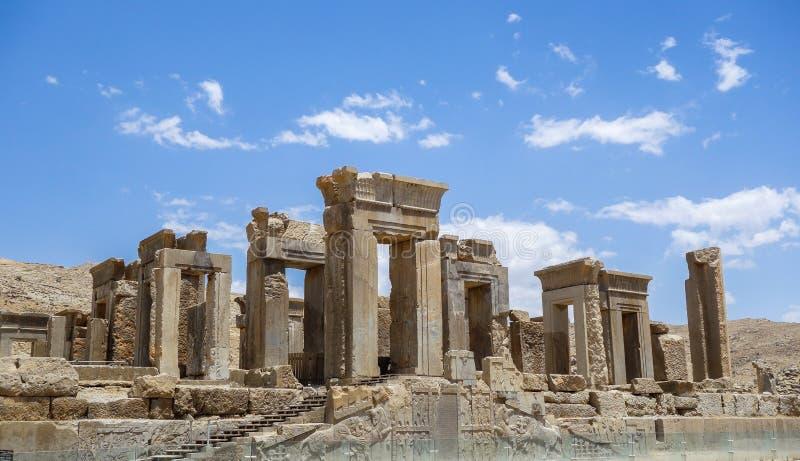 Fördärvar av Persepolis i Iran arkivbilder