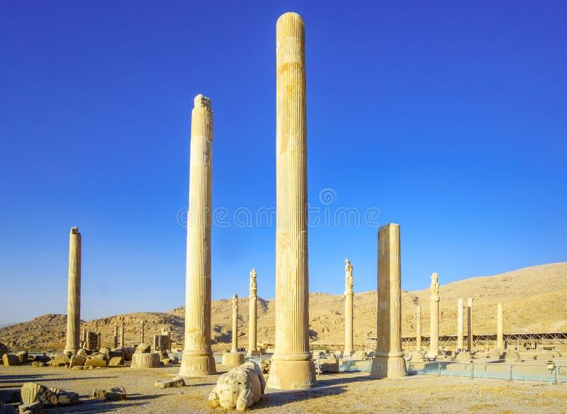 Fördärvar av Persepolis vid Shiraz i Iran royaltyfria bilder